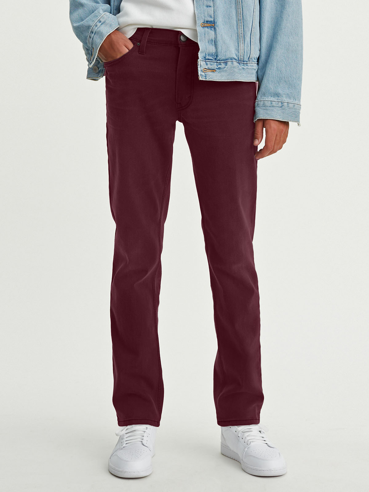 Levi's 511 slim pantalons texans de gavardina d'home 04511-4002 color bordeus