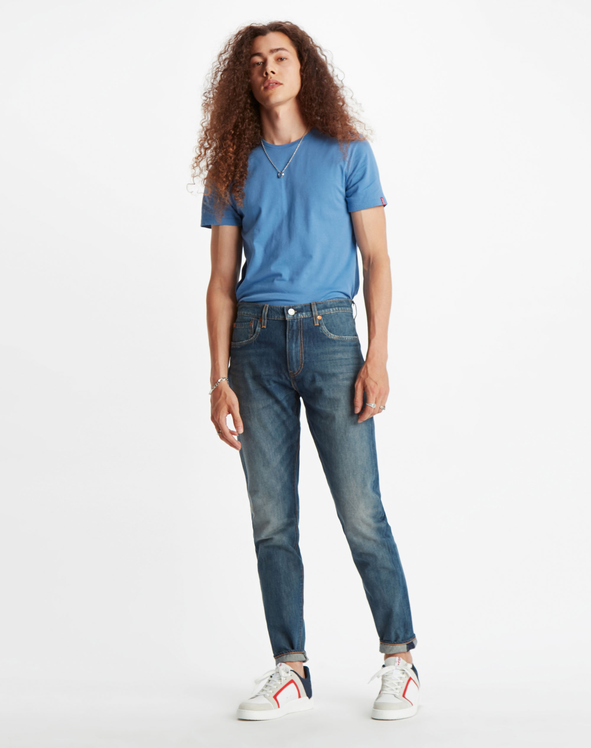 Levi's 512 slim taper pantalons texans d'home 28833-0565 color blau mig