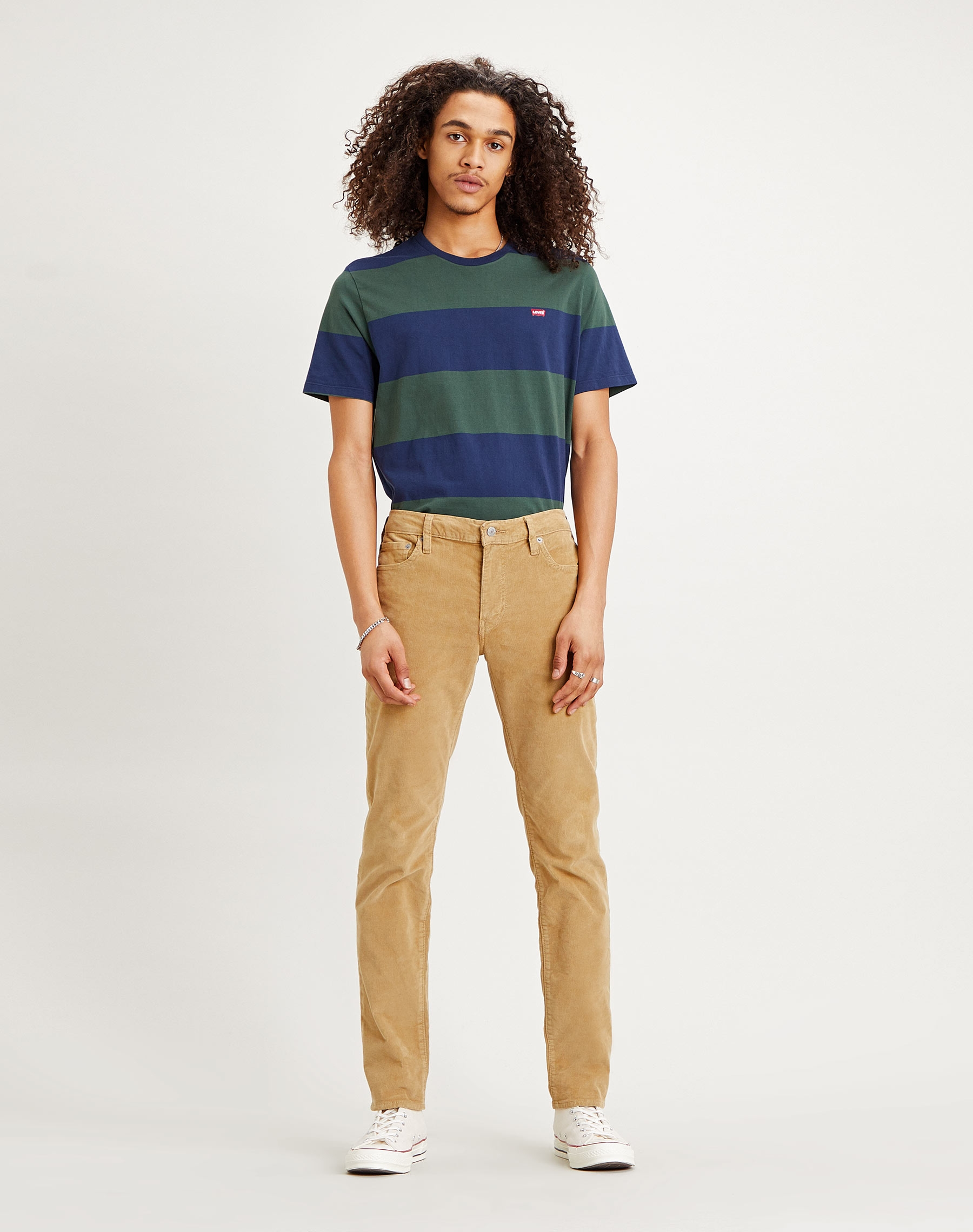 Levi's 511 slim pantalons texans d'home 04511-4749 de pana color beix