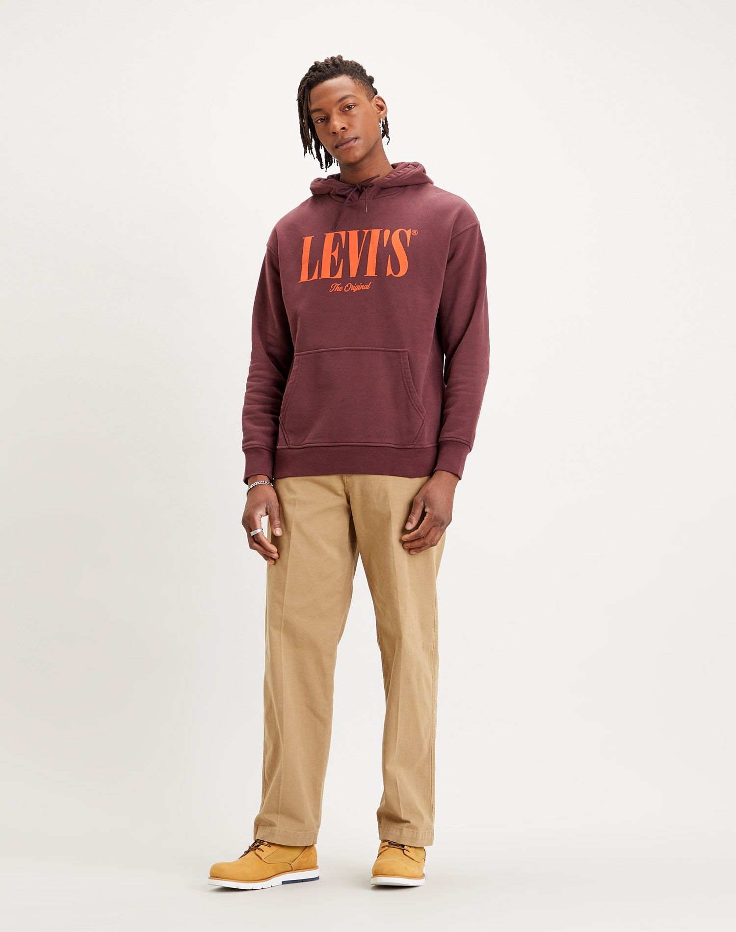 Levi's dessuadora d'home 38479-0003 color granate i caputxa